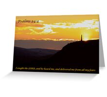 Psalms 34:4 Greeting Card