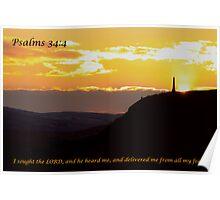Psalms 34:4 Poster