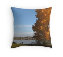 Warm Autumn Day - Rochester New York Throw Pillow