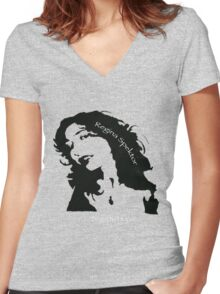 Regina Spektor - Begin to Hope Women's Fitted V-Neck T-Shirt