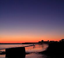 Southsea sunset at New Year by Nigel Kenny