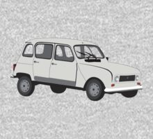 Renault 4 GTL Grey Kids Tee