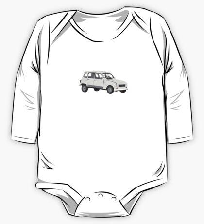 Renault 4 GTL Grey One Piece - Long Sleeve