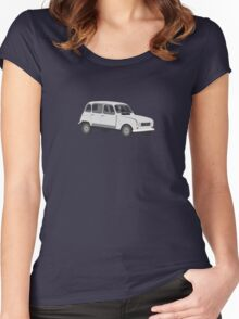 Renault 4 GTL Grey Women's Fitted Scoop T-Shirt