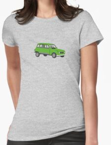 Renault 4 GTL Green Womens Fitted T-Shirt