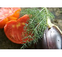 Summer Vegetables Photographic Print