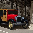 "1928 Ford Canopy  Top Pickup Truck ""Merriam Merchant"" by TeeMack"