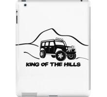 'King of the Hills' Jeep Wrangler 4x4 Sticker T-Shirt Design - Black iPad Case/Skin
