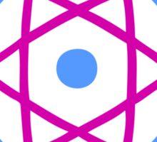 Retro Atom Symbol Graphic T-Shirt Sticker