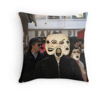 Triple Blured Facade Throw Pillow