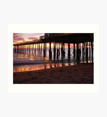 Kitty Hawk Pier Sunrise Art Print