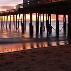 Kitty Hawk Pier Sunrise by Angel Perry
