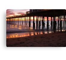 Kitty Hawk Pier Sunrise Canvas Print