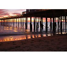 Kitty Hawk Pier Sunrise Photographic Print