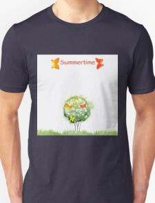 Blooming watercolor tree Unisex T-Shirt