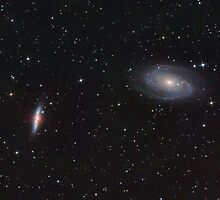 "M81 and M82. Classic Spiral and ""Exploding"" galaxy in Ursa Majoris. by Igor Chekalin"