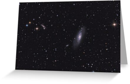 M106 Galaxy among stars of Milky Way. by Igor Chekalin