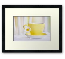 the monotony and solitude of a quiet life stimulates the creative mind... Framed Print