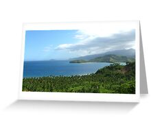 a desolate Philippines landscape Greeting Card