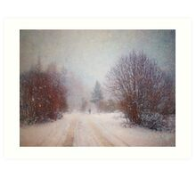 The Man in the Snowstorm Art Print