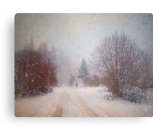 The Man in the Snowstorm Metal Print