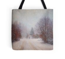 The Man in the Snowstorm Tote Bag