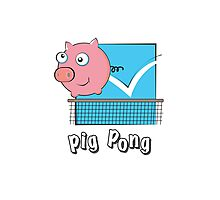 Pig Pong Photographic Print