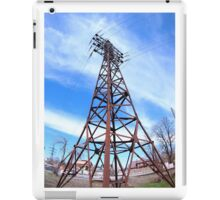 High-voltage tower with wires iPad Case/Skin