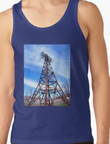High-voltage tower with wires Tank Top