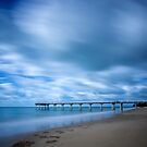 Storm at Torquay Jetty  by Peter Doré