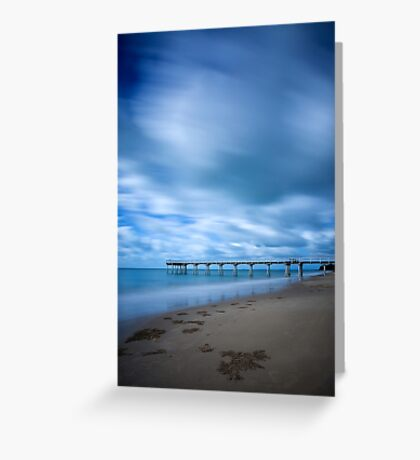 Storm at Torquay Jetty  Greeting Card