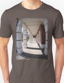The facade of the city building Unisex T-Shirt