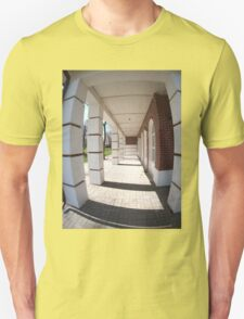 The facade of the city building T-Shirt