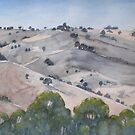 Hills at Euroa Victoria Australia by Mrswillow