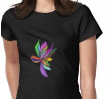 AB stract -Flower Womens Fitted T-Shirt