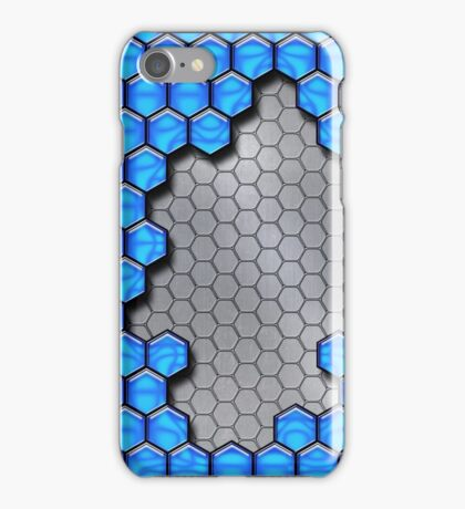 Blue Metallic Scale iPhone Case/Skin