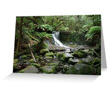 Horseshoe Falls, Mt Field National Park, Tasmania Greeting Card
