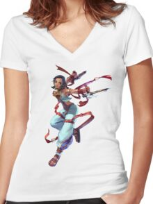 Talim 1 Women's Fitted V-Neck T-Shirt