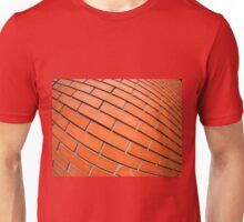 New red brick wall with distortion lens Unisex T-Shirt