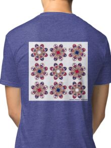 Red, White and Blue Foot Flowers Tri-blend T-Shirt