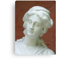 Statue of a Lady with a Spider in her Ear Canvas Print