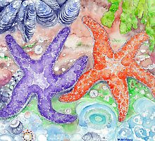 Love and Starfish- A Tidepool Scene  by wademcmillan