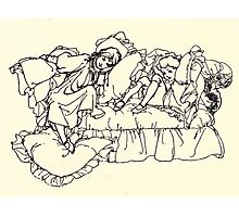 The Zankiwank & the Bletherwitch by Shafto Justin Adair Fitz Gerald art Arthur Rackham 1896 0125 Maude and Willie Photographic Print