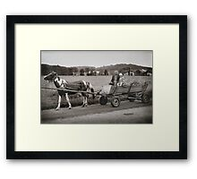 A Man & His Daughter, Ukraine Framed Print
