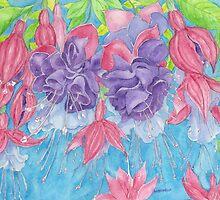 Fuscia Flowers in Bloom by wademcmillan
