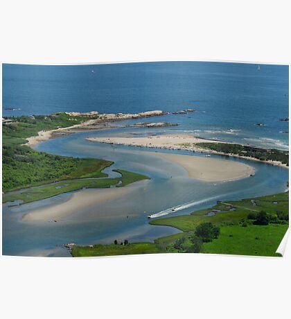 Where Narragansett Beach Ends Narrow River Begins Poster