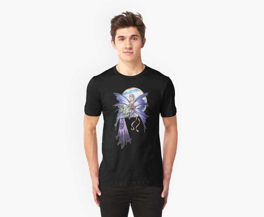 Lavendar Fairy with Dragon by BrightSolaris