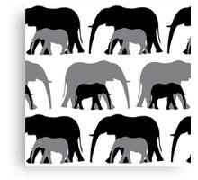 Together - Black & Grey Canvas Print