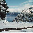 Summer Snow -Crater Lake, Oregon by Lawson Jacobs
