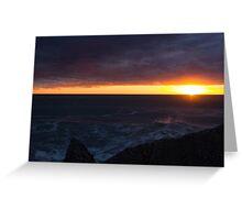 Sunset at Greymouth Greeting Card